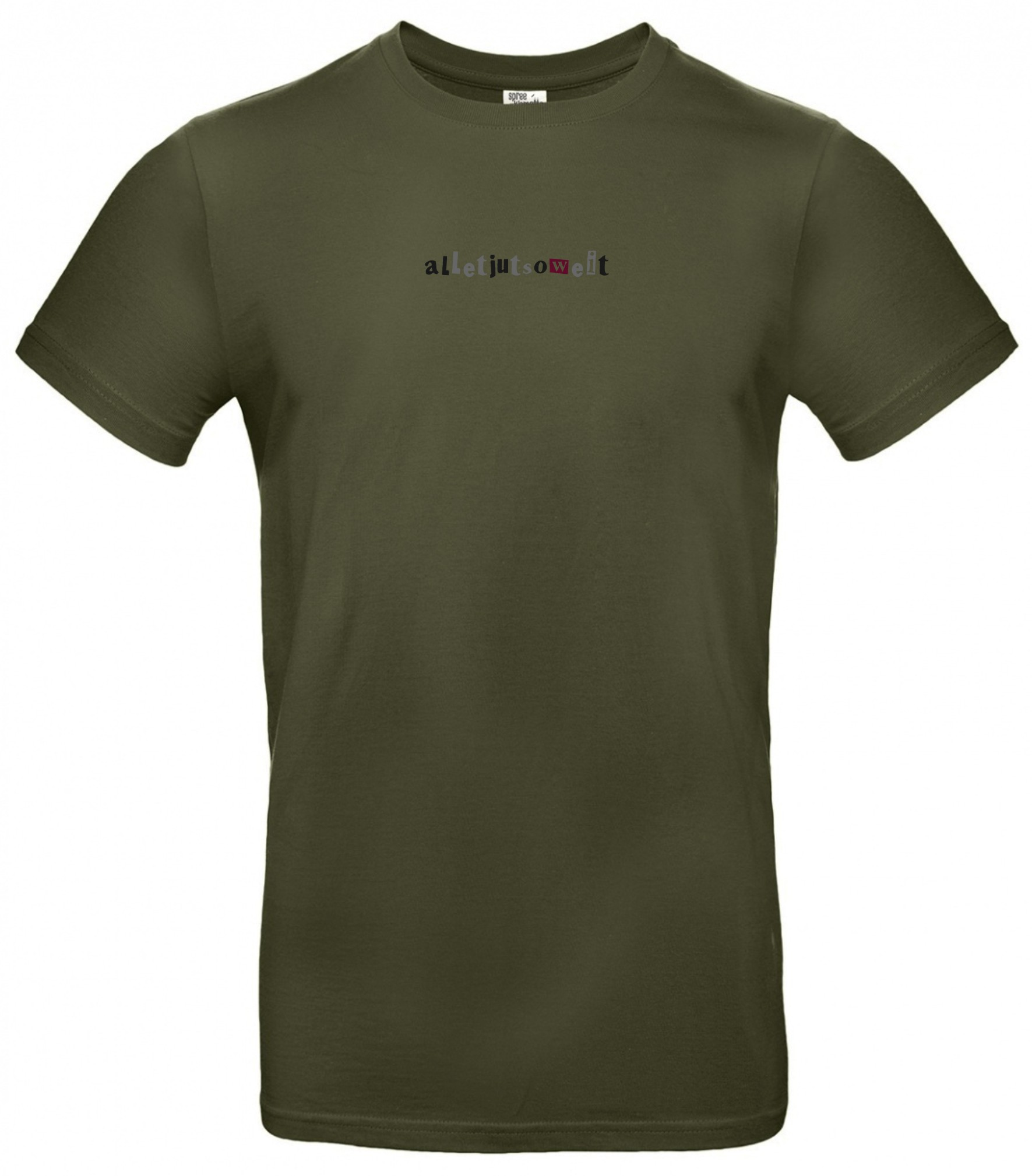Spree Shirt Männer Allet jut soweit oliv