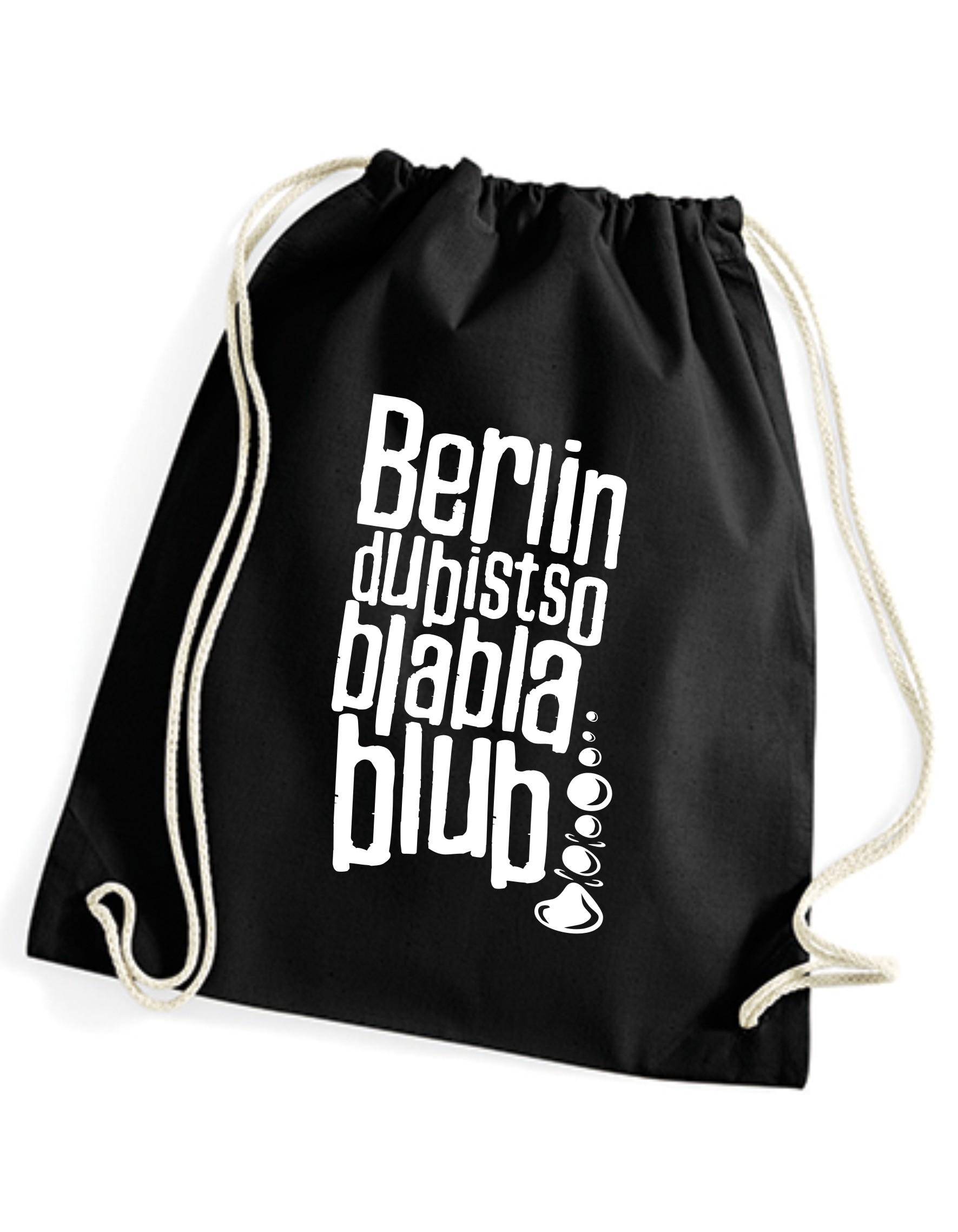 Turnbeutel Berlin du bist so blabla