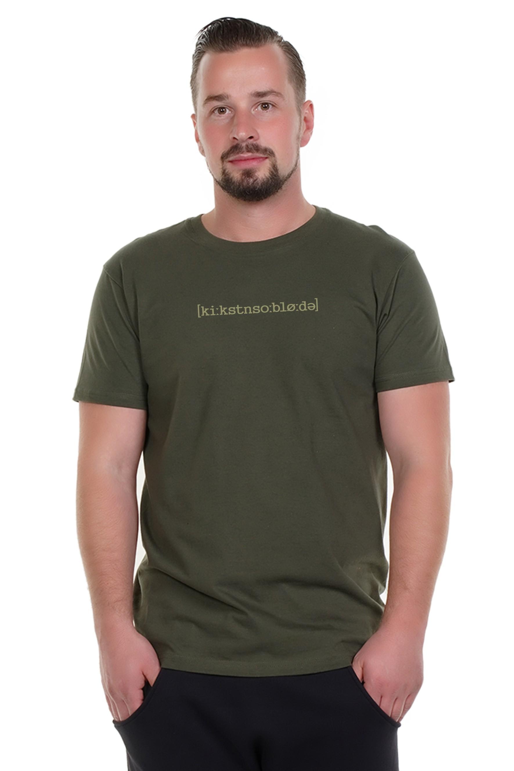 Spree Shirt Männer oliv Kickstn so blöde