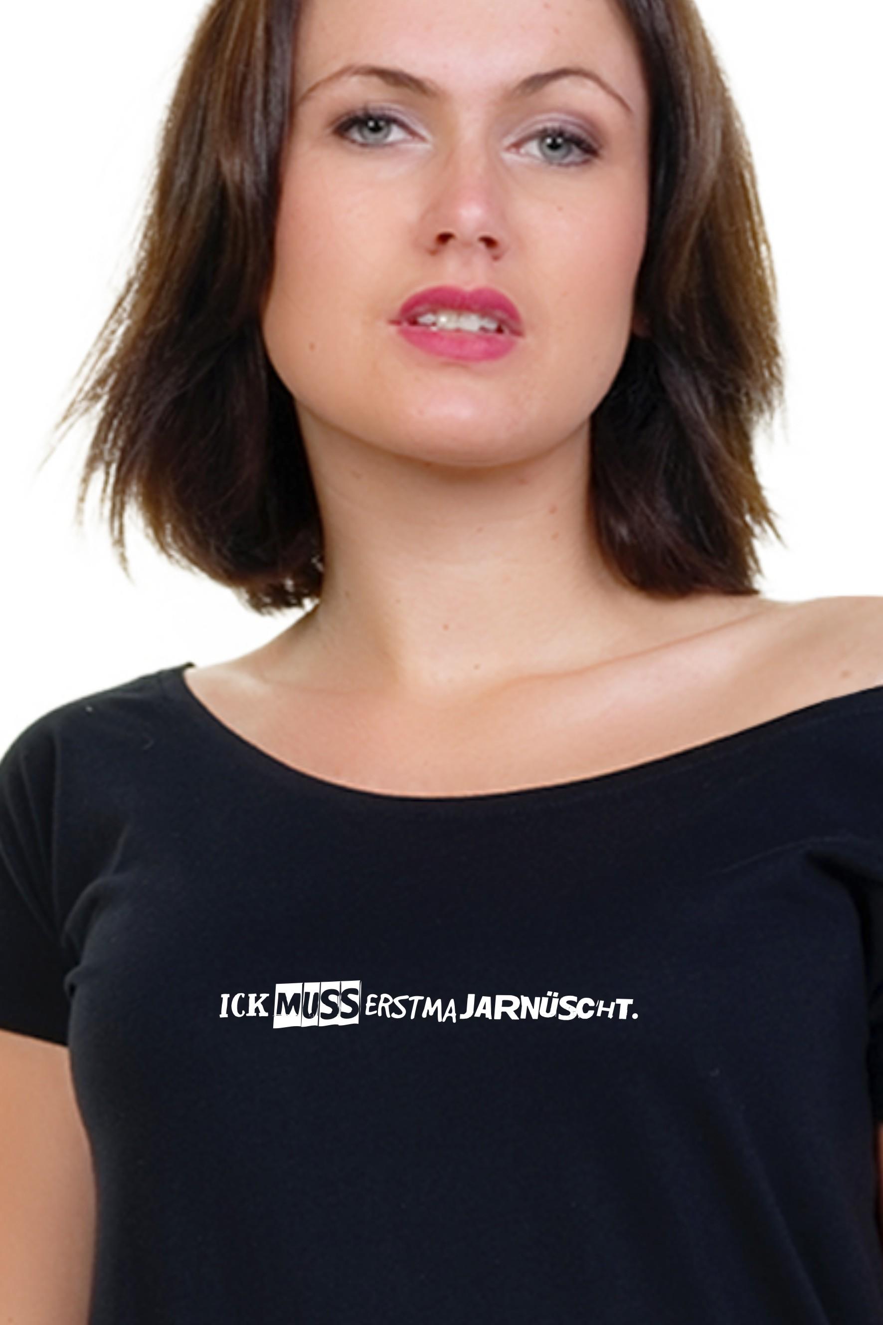 Spreeshirt Frauen Ick muss erstma jarnüscht