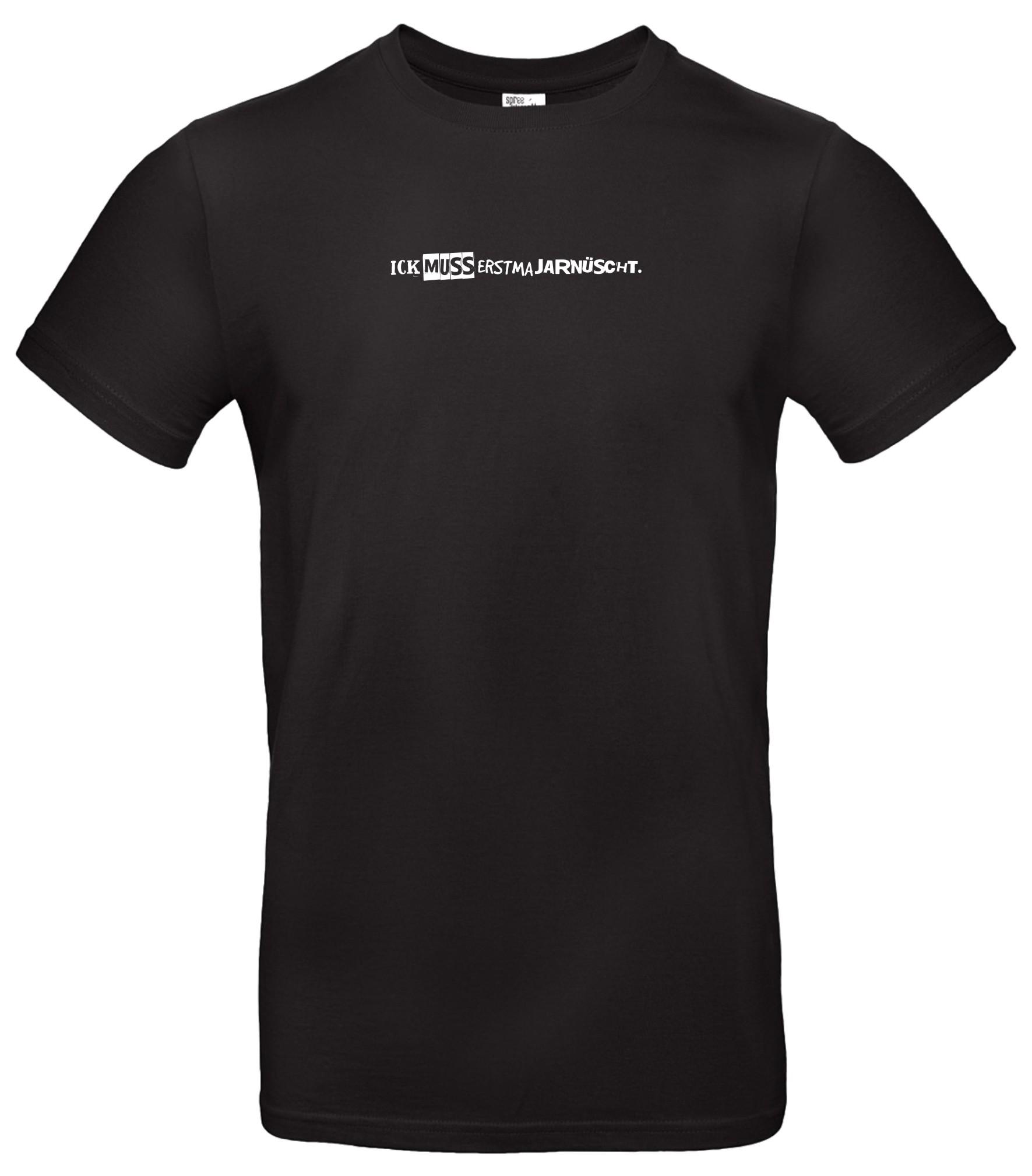 Spree Shirt Männer schwarz ick muss ertma jarnüscht